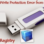Remove the write protection on disk (pen drive or flash drive)