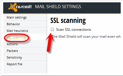 Check Your Antivirus Software setting