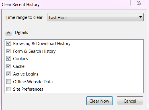 Clear History and Cache From Mozilla Frefox Browser 03