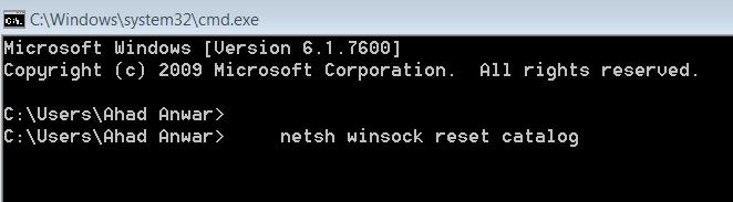 Flushing the DNS Address
