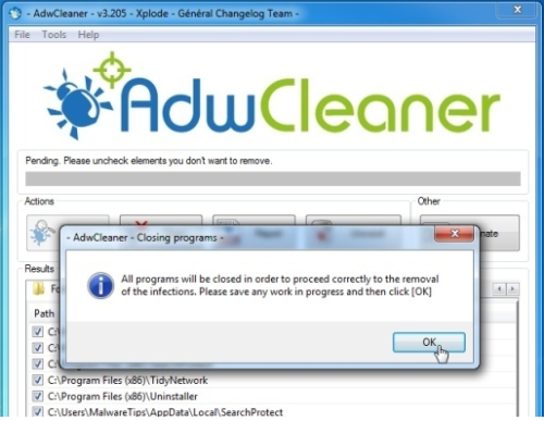 Use AdwCleaner Software