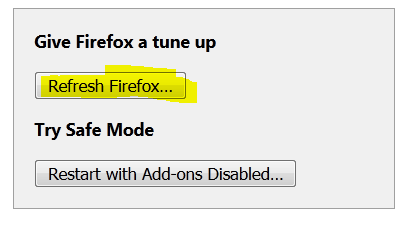 Refresh Your Firefox Browser