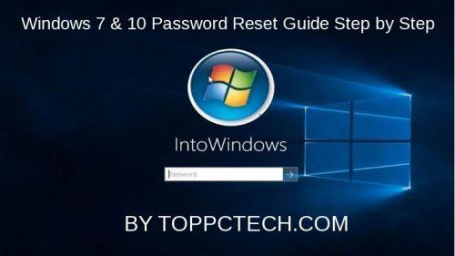of Windows 10 password reset