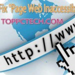Page Web Inaccessible Error Fix Step by Step