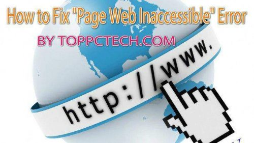 How to Fix Page Web Inaccessible Error