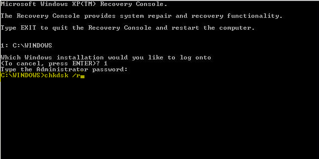 Repair Damaged Hard Disc by CHKDSK
