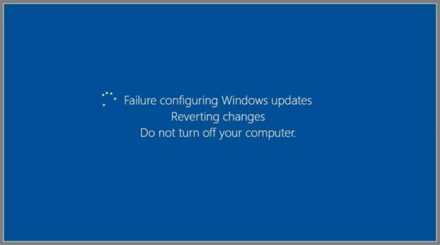 Failure Configuring Windows Updates issue