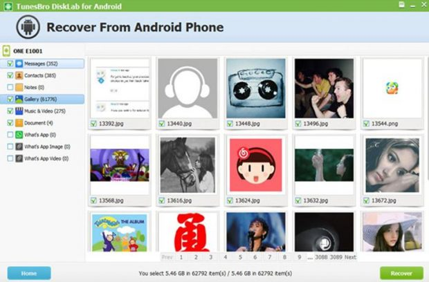 Recover from android phone