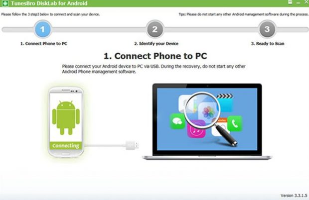 connect your phone to the PC