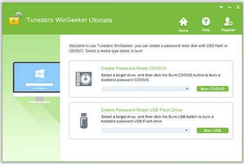 Reset Password with TunesBro WinGeeker