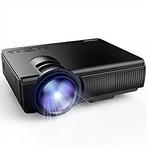(Best Cheap Projectors under 100) TENKER Q5 LED Mini Movie Projector