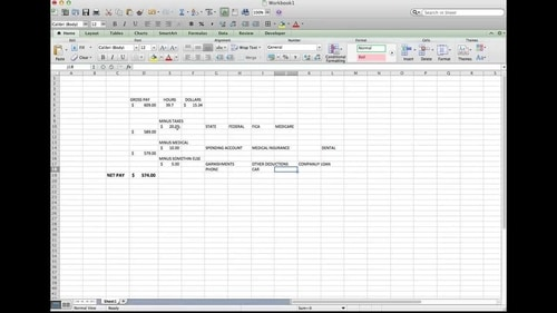 Make an Excel Table