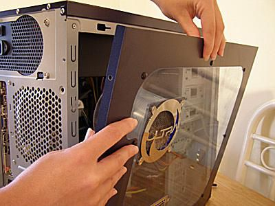 Open the side panel of your computer case
